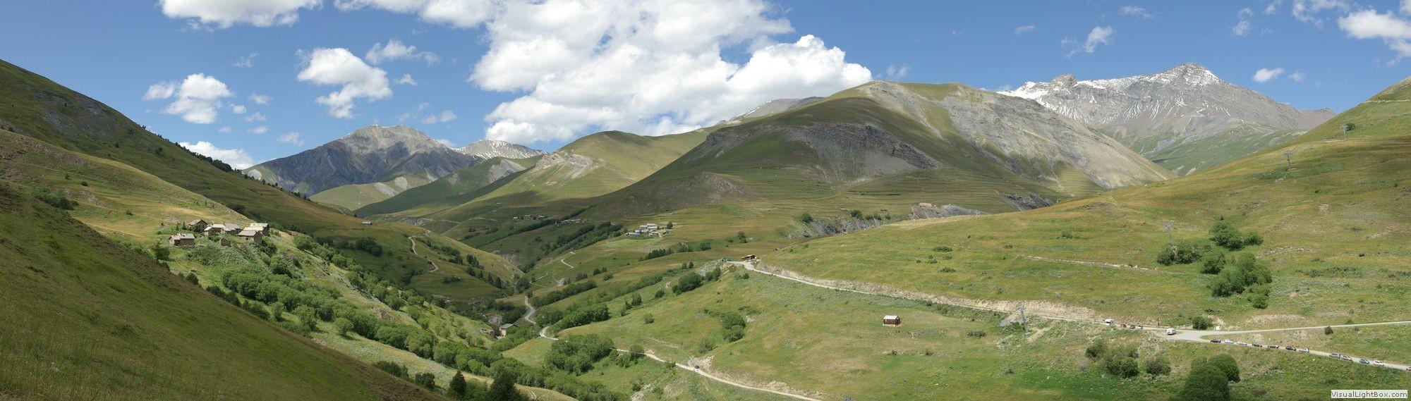 Photos panoramiques de montagnes